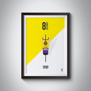 Greg LeMond 8 seconds 1989 cycling print