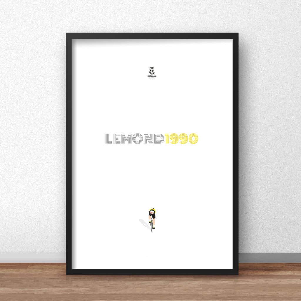 Greg Lemond 90 Prologue TT - Cycling Print
