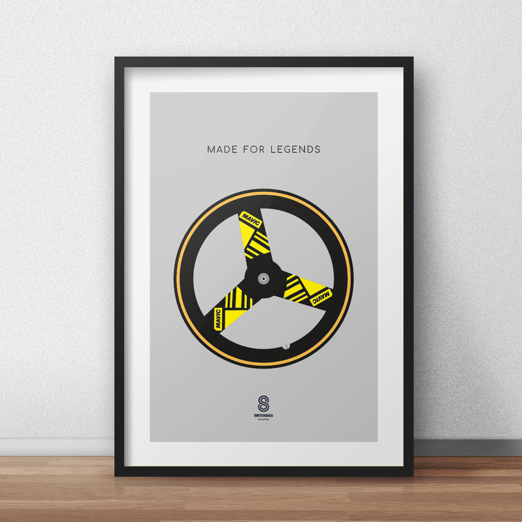 Mavic Disc Wheel - Made For Legends Print