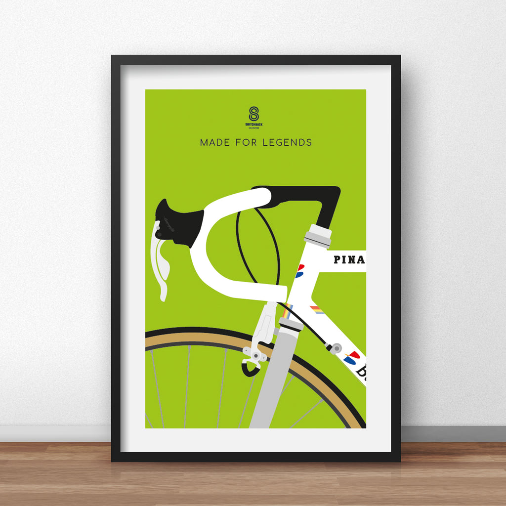 Miguel Indurain Pinarello Bike - Cycling Print