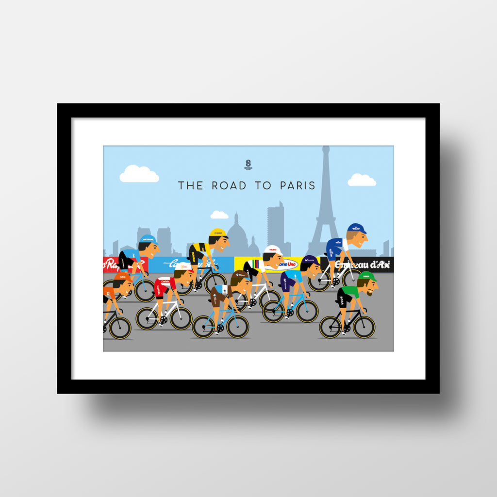 Road to Paris - Tour De France Collection print