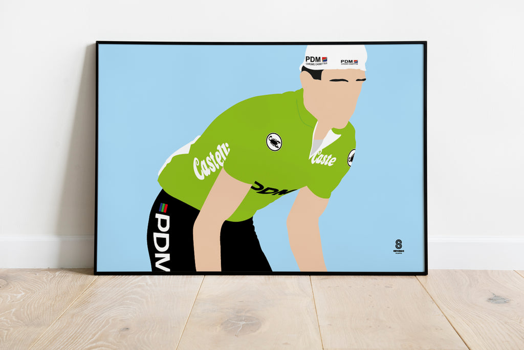 Sean Kelly Green Jersey PDM - Retro Print