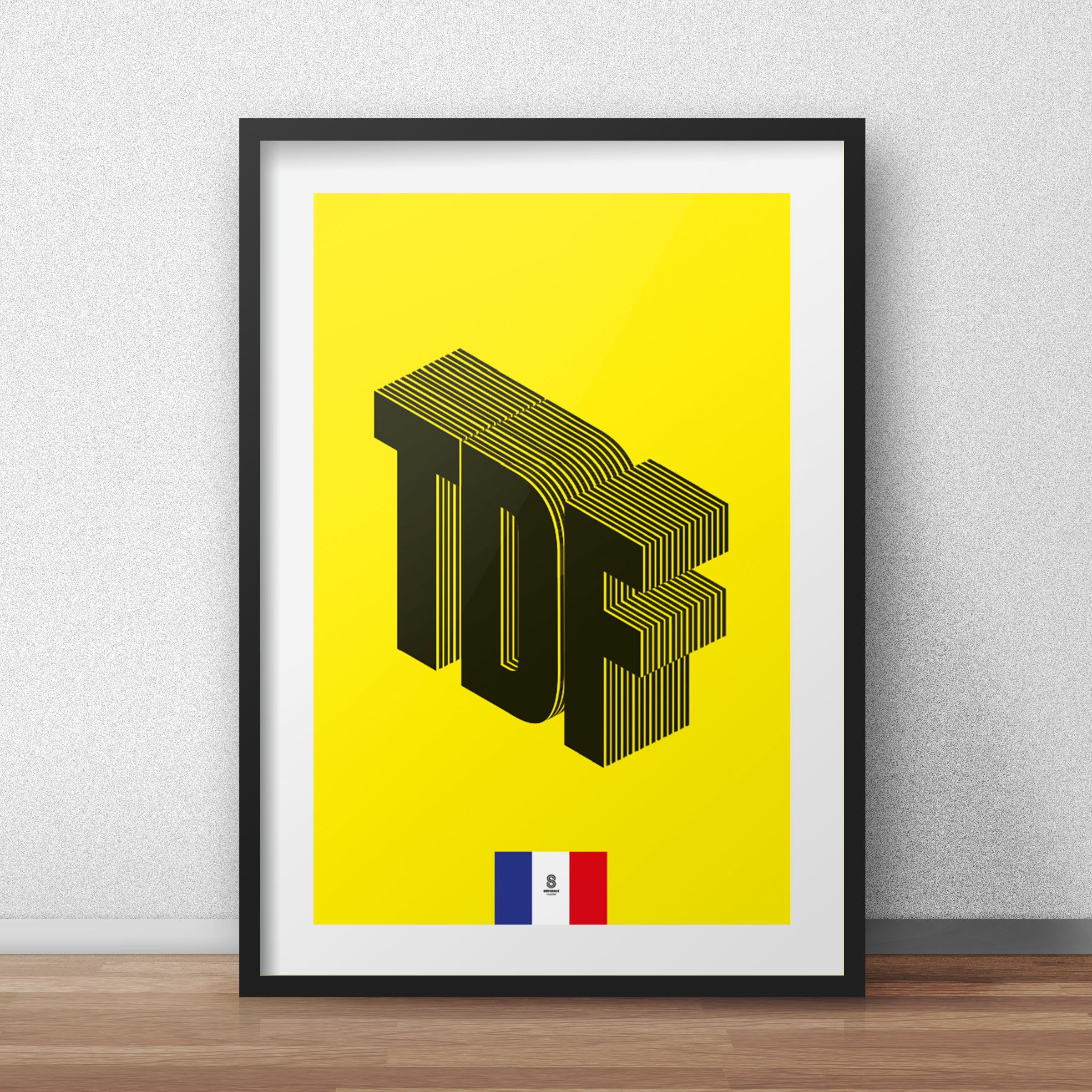 Tour De France Typographic - Tour De France print