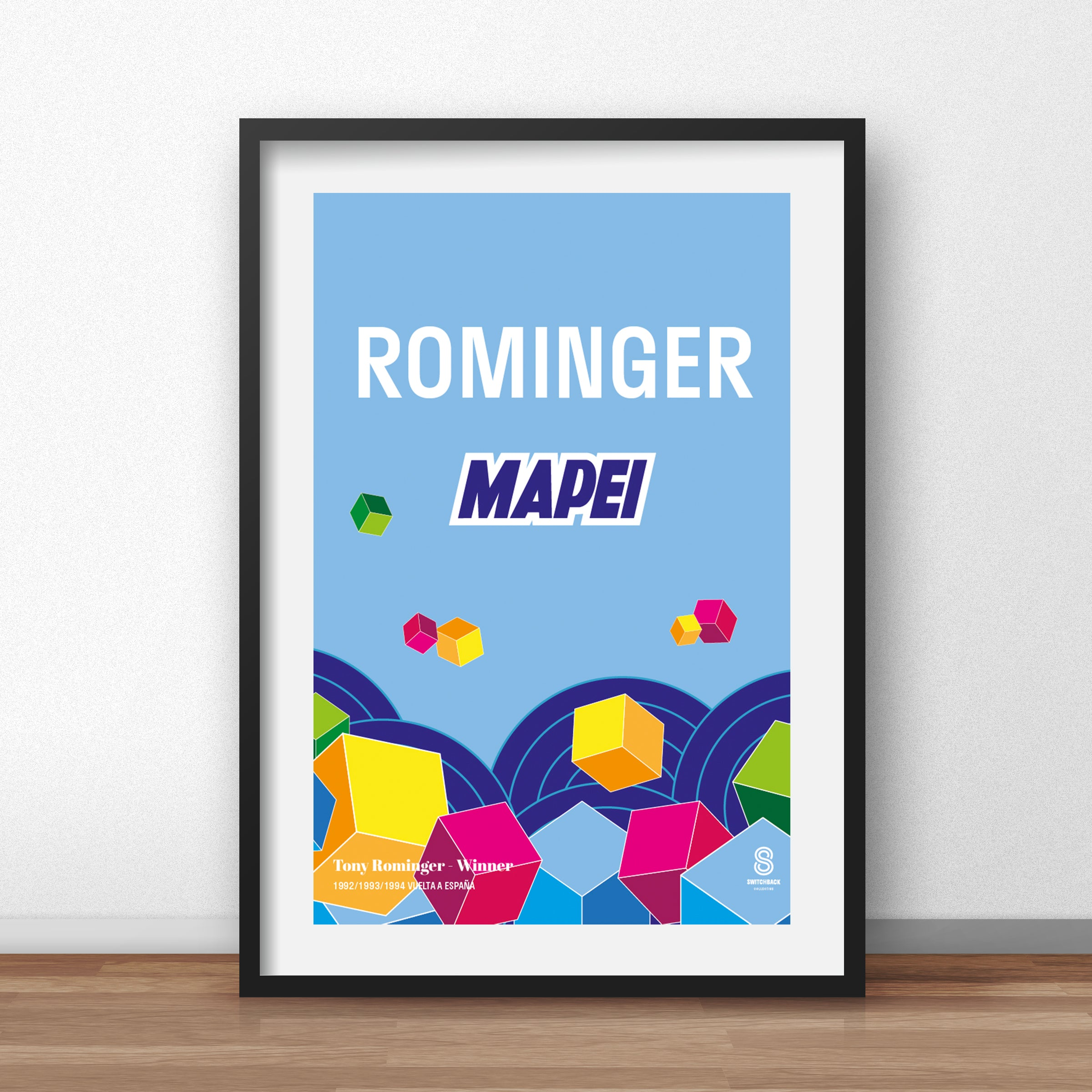 Tony Rominger Mapei - Vintage cycling team print