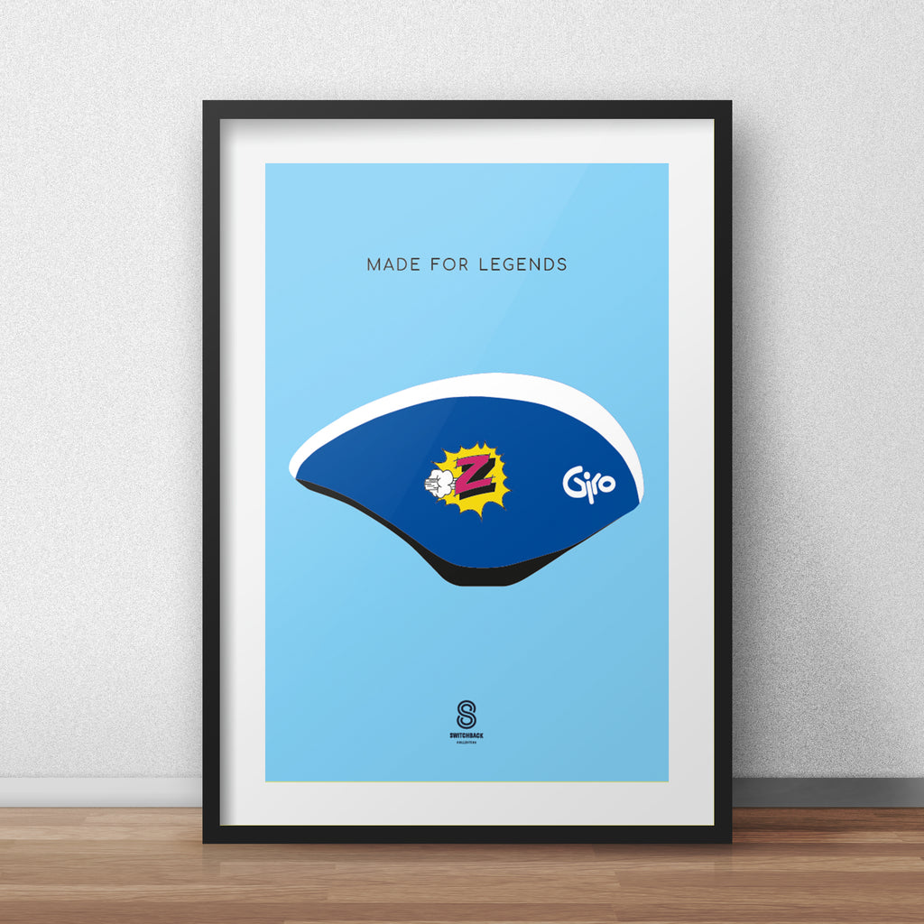 Greg LeMond Giro Aero Helmet - Made For Legends Print