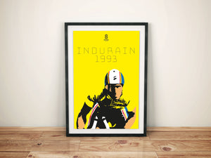 Miguel Indurain 1993 Tour De France - Limited Edition Vintage cycling team print