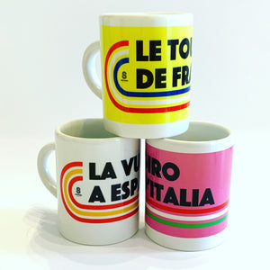 Grand Tour Espresso Cup Set - Tour De France, Giro d'Italia and Vuelta