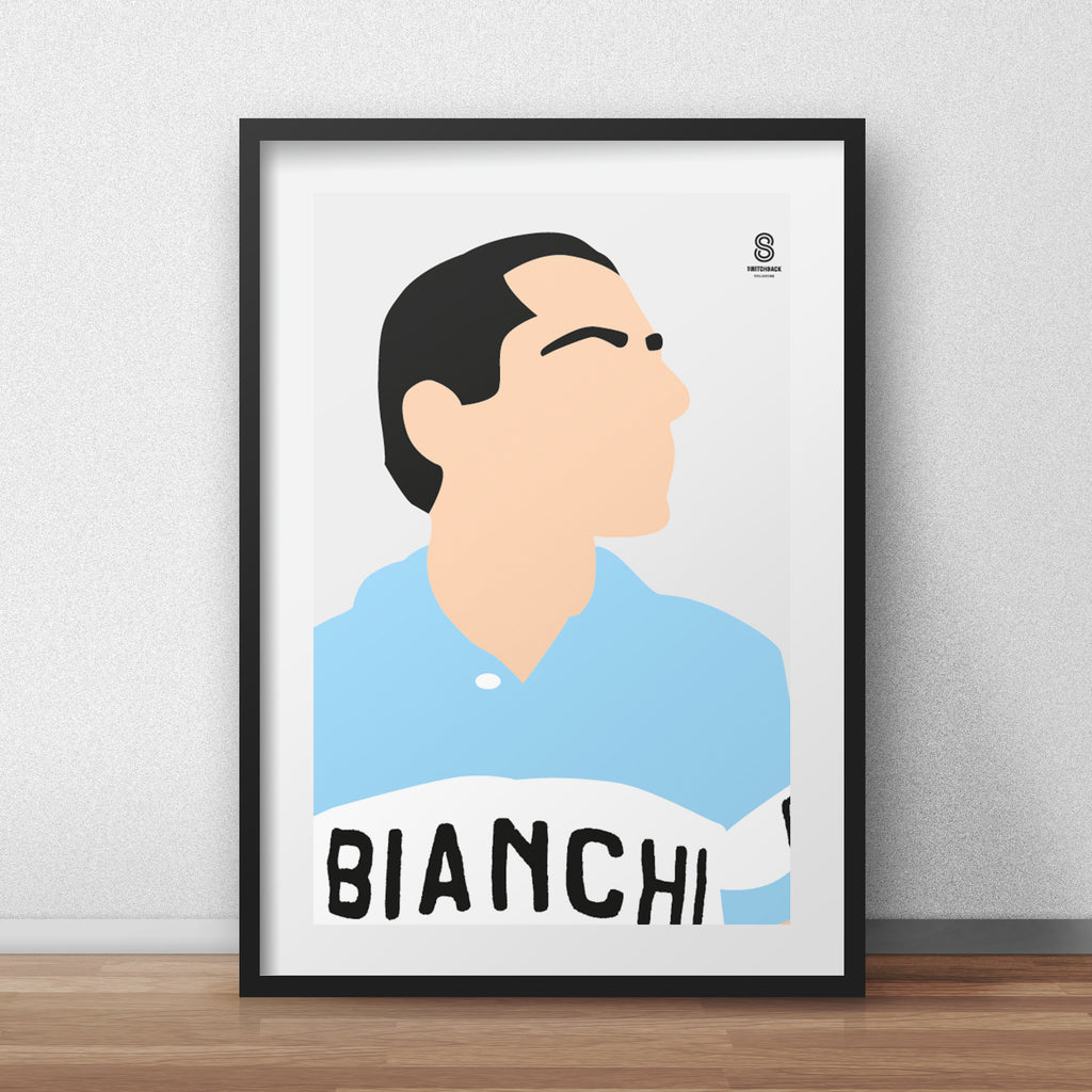 Fausto Coppi Portrait - The Early Days Print