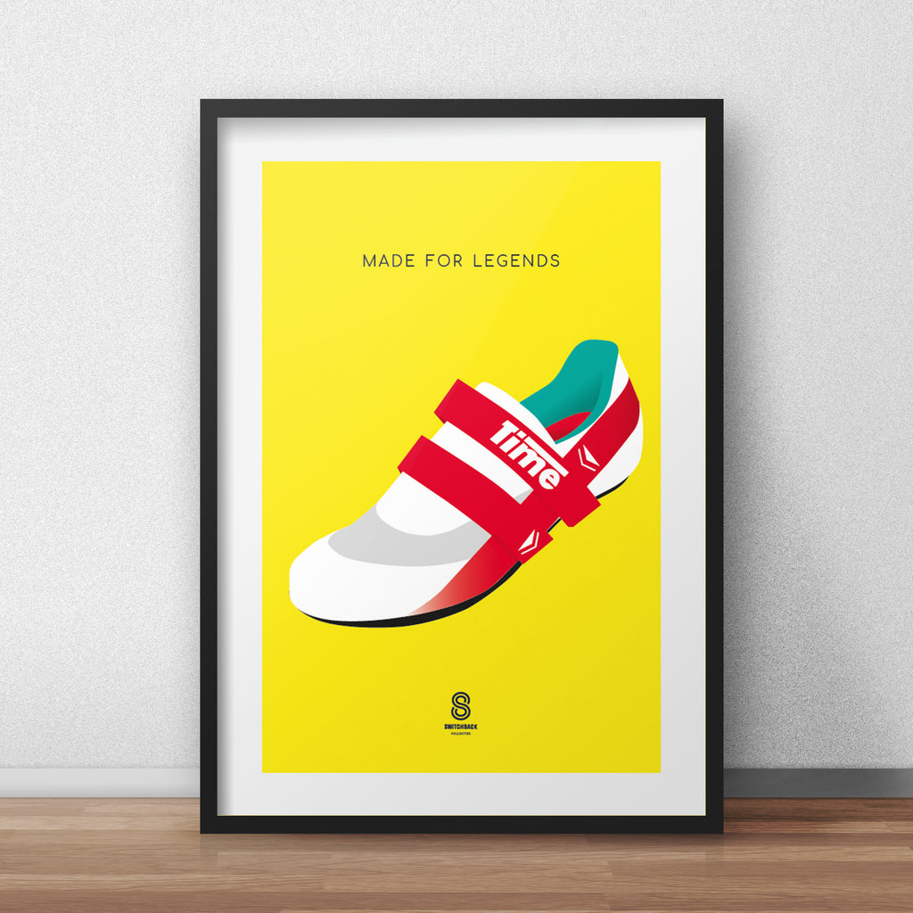 Time Cycling Shoes - Made For Legends Print