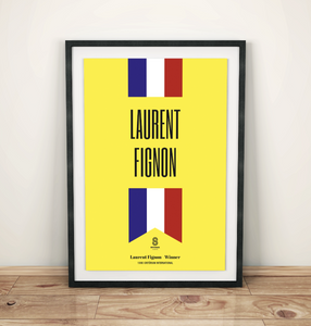 Laurent Fignon National Print - Cycling Print
