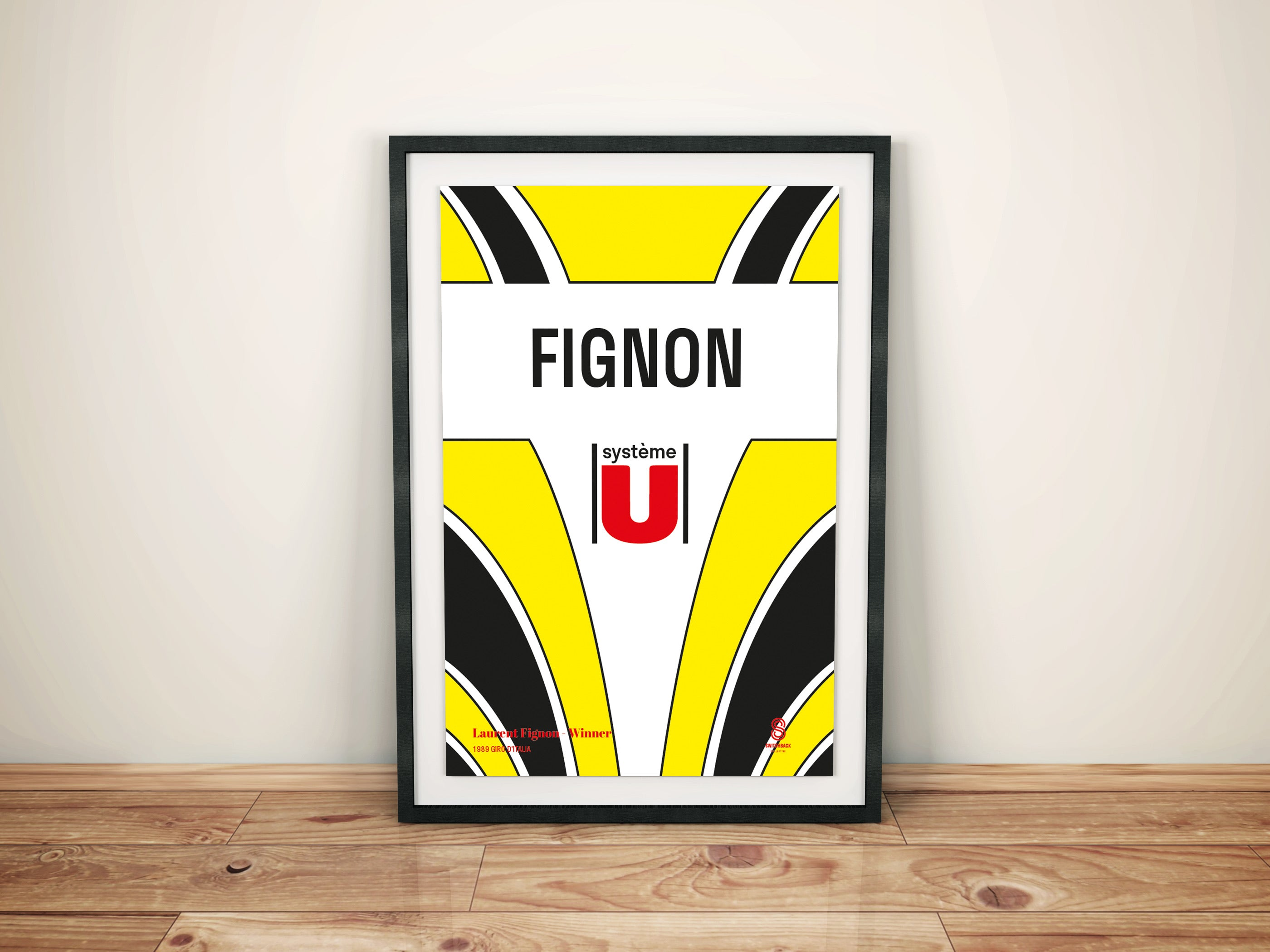 Laurent Fignon Systeme U - Vintage cycling team print