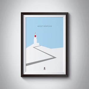 Mont Ventoux - Cold on the top - Cycling Print