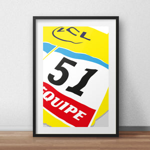 51 Yellow Jersey 'Lucky for some' - Tour De France Collection print