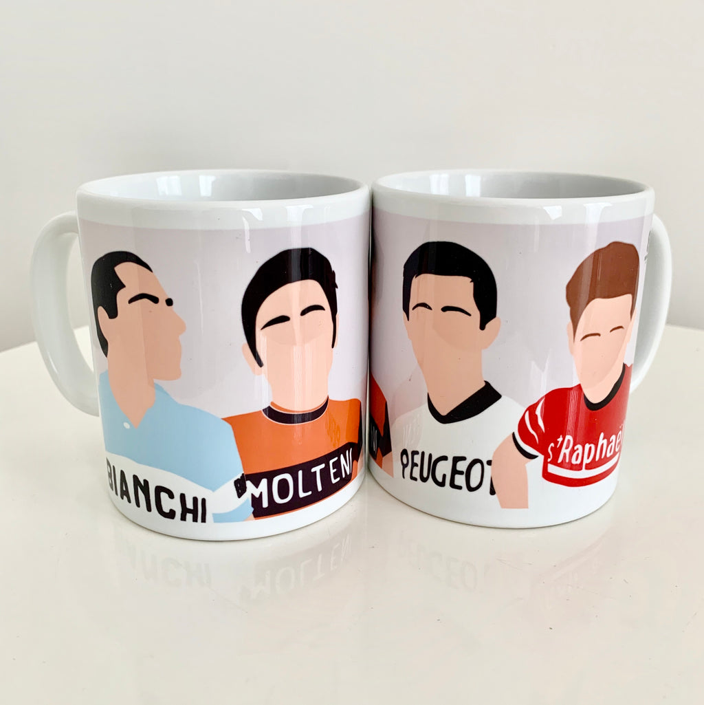 The Legends, Coppi, Merckx, Simpson and Anquetil Mug
