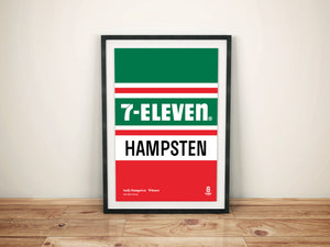 Andy Hampsten 7-Eleven - Vintage cycling team print