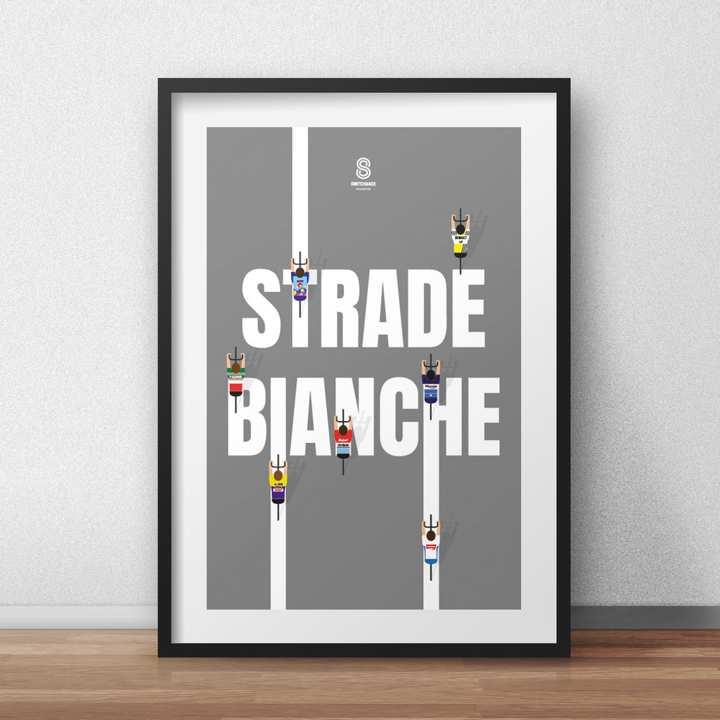 Strade Bianche 'White Roads'- Cycling Print