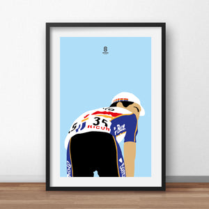 Miguel Indurain 'Looking back'- Cycling Print