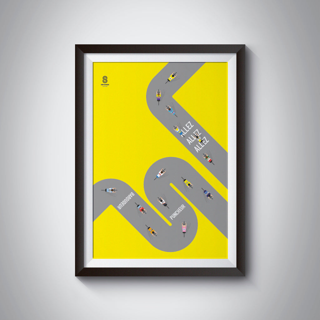 The Journey To The Top - Tour De France Cycling Print