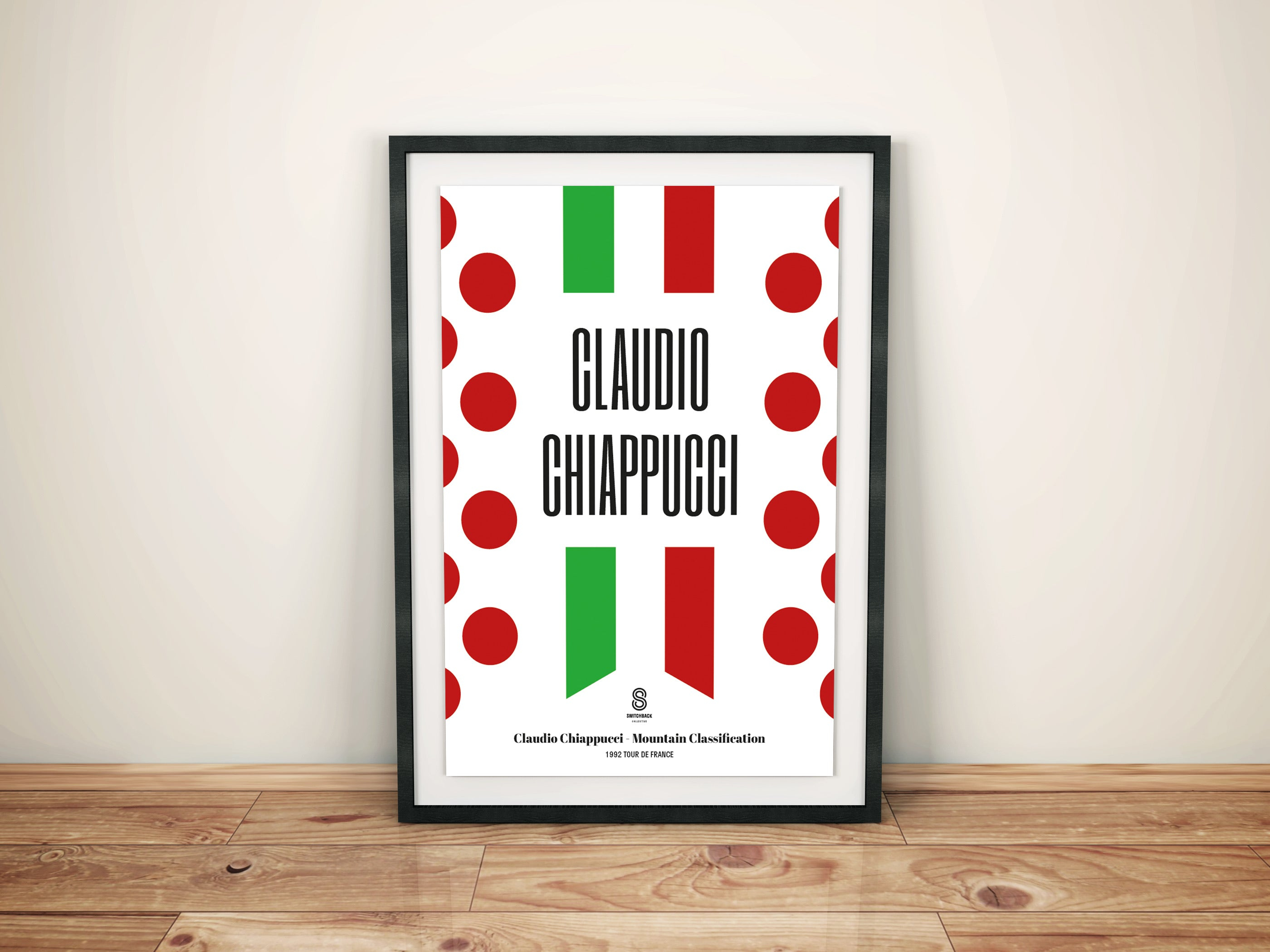 Claudio Chiappucci King of the Mountains - Cycling Print