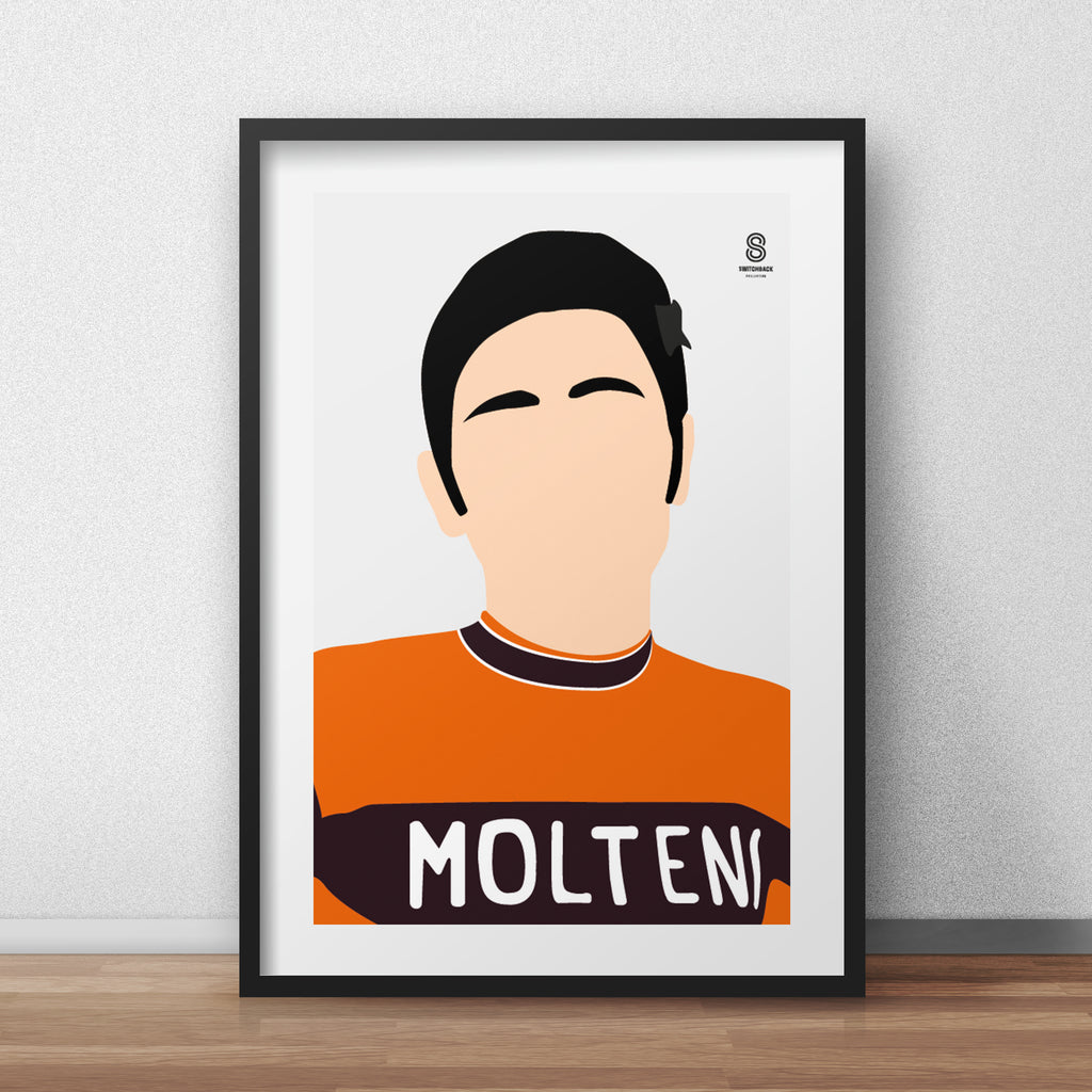 Eddy Merckx Portrait - The Early Days Print