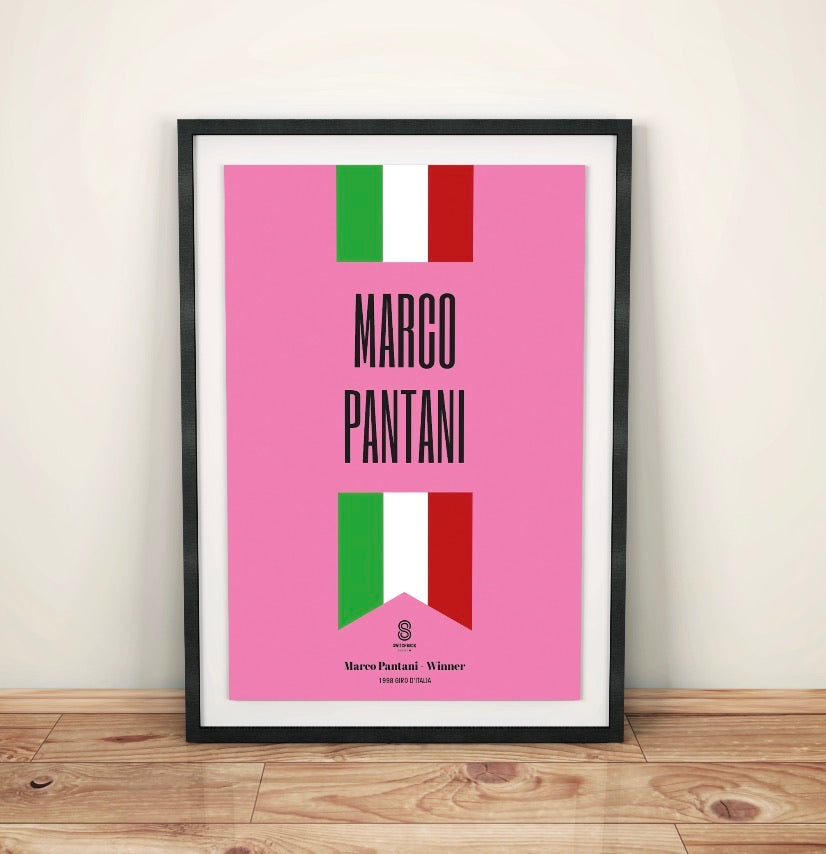 Marco Pantani National Print - Cycling Print