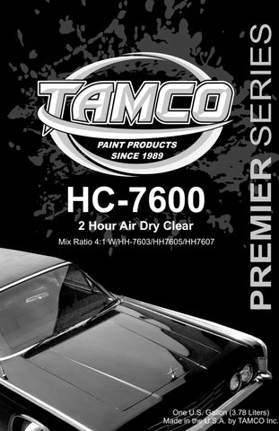 HC7600 2 Hour Air Dry 4:1 Clearcoat