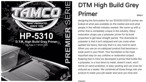 DTM Primers (Direct to Metal)