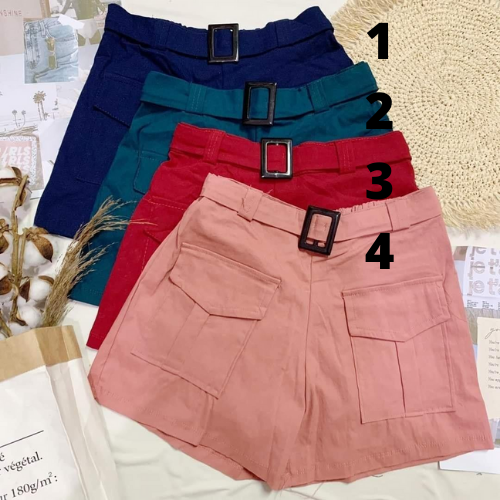 🌺 CARGO BELTED SHORTS 🌺