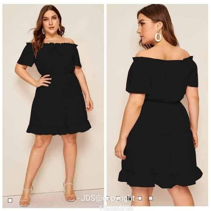 YNA PLUSSIZE OFFSHOULDER DRESS