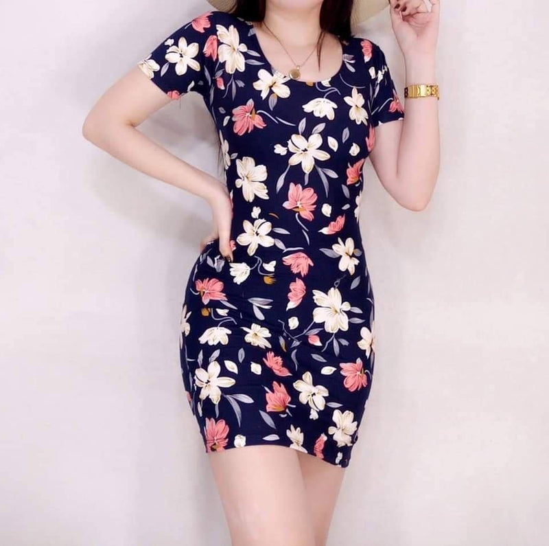 🌸 Cy Bodycon Dress Floral 🌸