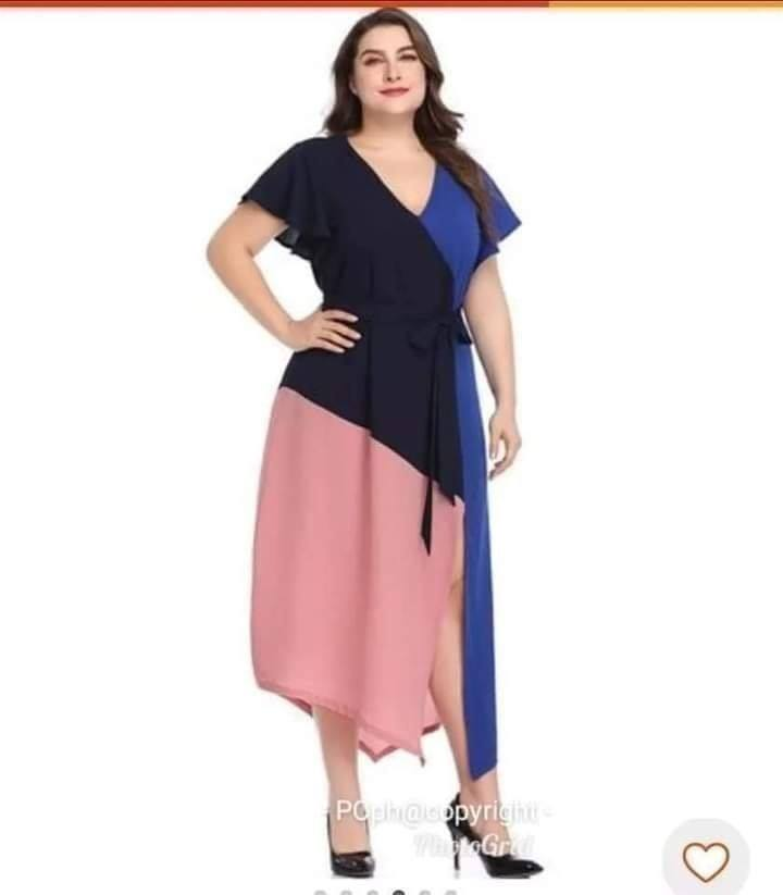 CURINAI PLUSSIZE COMBI DRESS
