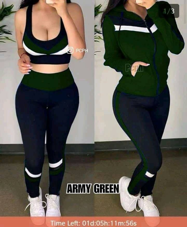 3in1 COMBI CROPTOP+PANTS+JACKET
