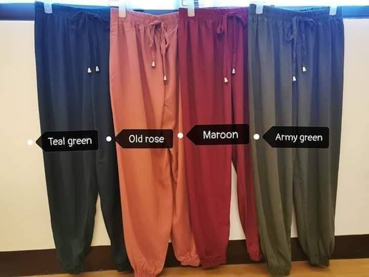 DRAPE PANTS (PLUS SIZE)