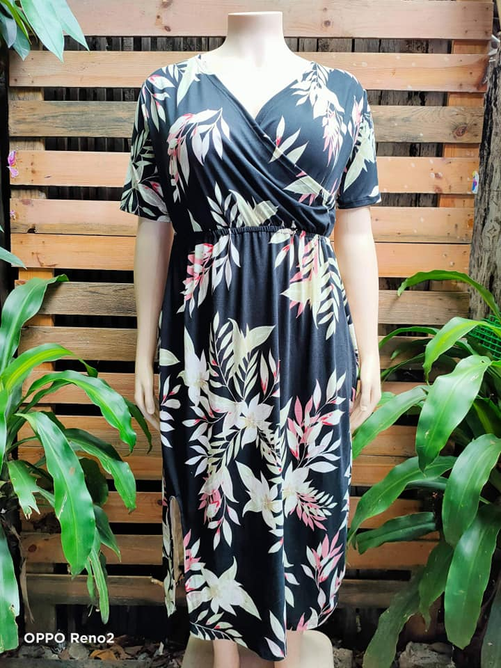 Jilliane  Overlap Maxi Dress