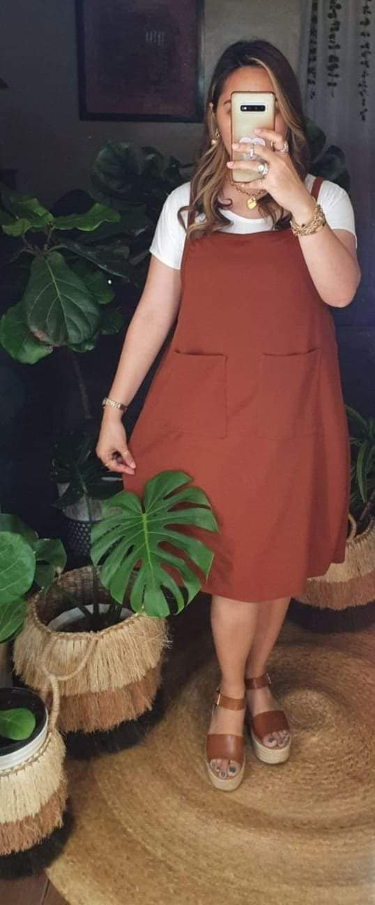 PLUS SIZE JUMPER DRESS (inner included)