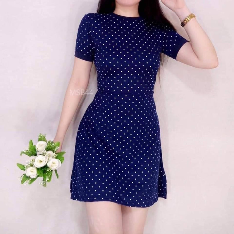 RINGER FLOWY POLKA DRESS