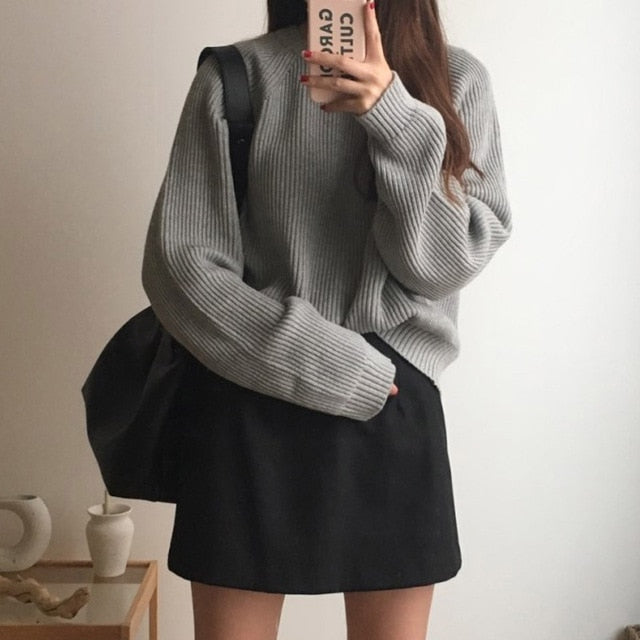 Korean Fashion Ladies Full Sleeve Women Knitting Sweater