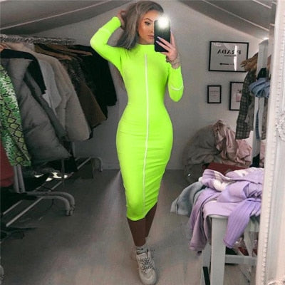 Casual Bodycon Women Long Dress