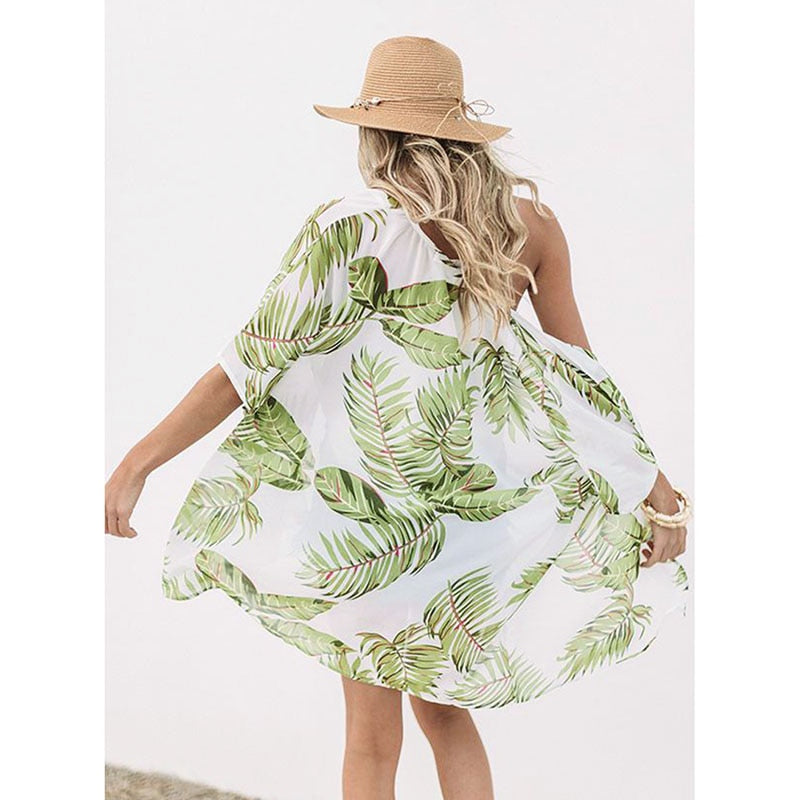 Cover-ups Sexy Summer Beach Dress Cotton Tunic