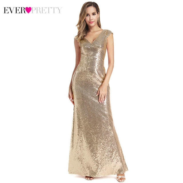 Long Evening Shine Sequin Sparkle dress