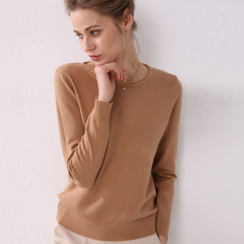 Women knitting sweater long sleeves sweaters