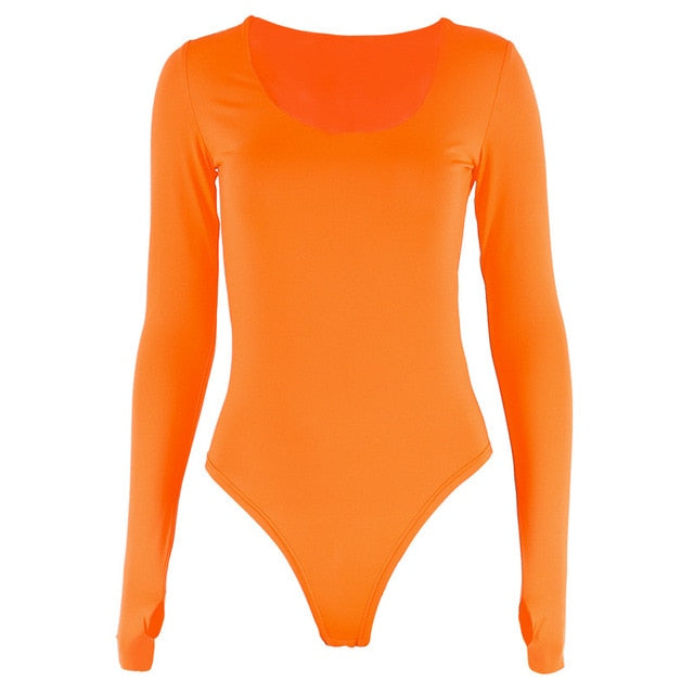 Long Sleeve Solid Winter Basic Body Suit