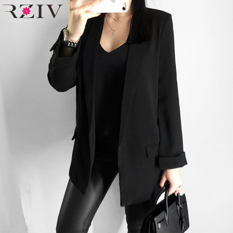 Casual solid color single button coat