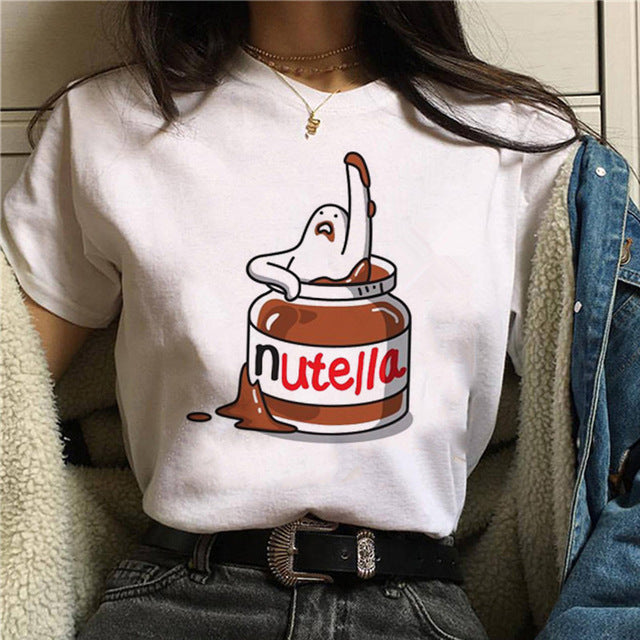 Graphic Cute Cartoon Korean Style Top Tees
