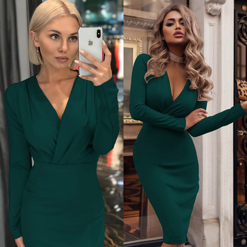 Women Vintage Bodycon Slim Party Dress