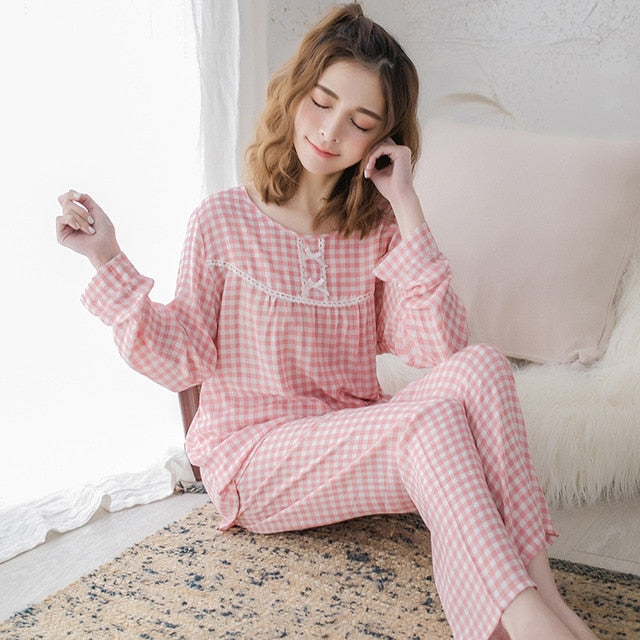 Lovely Style Cotton Pajamas Long Sleeve Sleepwear