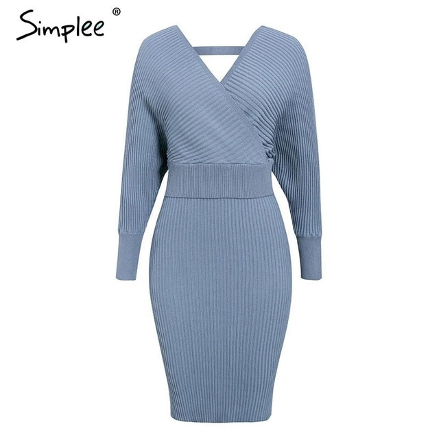 2 pieces Elegant party female sweater dress