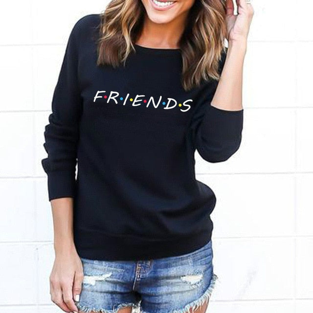 Loose Thick Knit Love Printed Sweatshirt