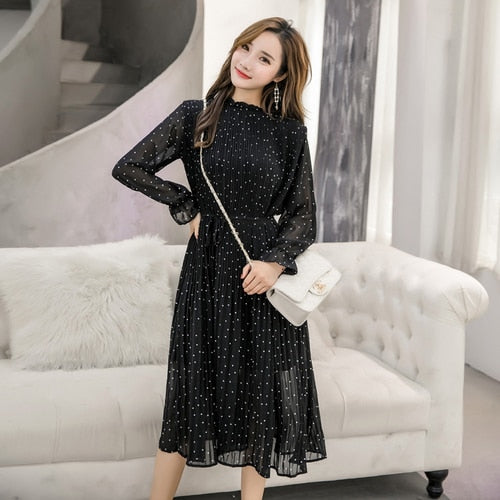 Lady Long Chiffon Dress