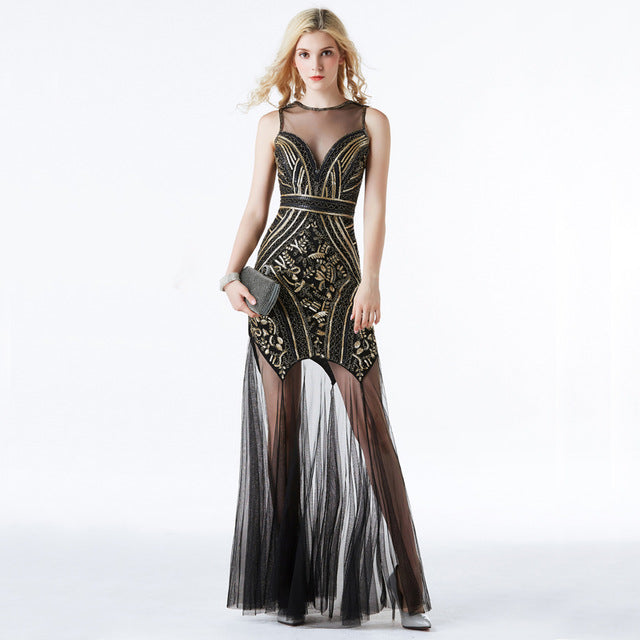 Sequins Beading Evening Dress